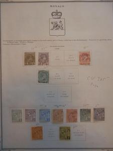 MONACO FANTASTIC SMALL OLD COLLECTION 1885-1894 DR SCHULTZ ESTATE 8759M