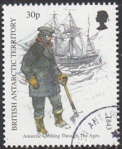 British Antarctic Territory 1998 used Sc #259 30p Man holding shovel, ship An...
