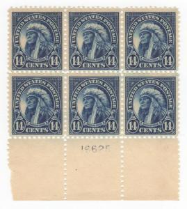 USA SC #565 MNH PB6 1923 14c American Indian #16625, CV $120.00