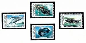 Dominica 791-94 MNH 1983 Save the Whales