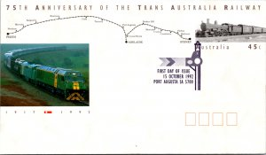 Australia, Trains, Postal Stationary