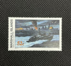 1994 Marshall Islands Stamp SC#497 52c WWII Battle Of Leyte Gulf , MNH