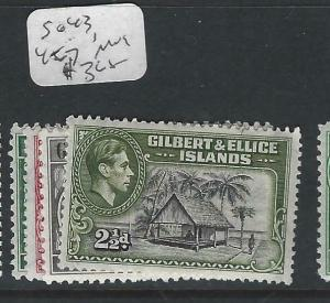 GILBERT AND ELLICE ISLAND  (P0303B) KGVI  SG 43, 45-7   MOG