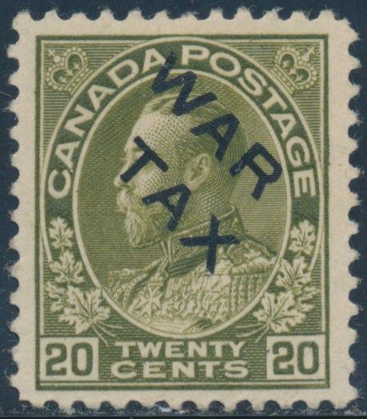 CANADA #MR2C WAR TAX VF OG LH CV $150 BU2018