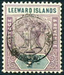 HERRICKSTAMP LEEWARD ISLANDS Sc.# 14 Mint NH Scott Retail $130.00