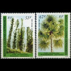 NEW CALEDONIA 1984 - Scott# C195-6 Local Trees Set of 2 NH