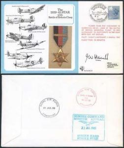 DM10a The 1939 to 1945 Star with Battle of Britain Clasp Signed by Hamill (B)