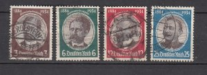 J25989  jlstamps 1934 germany set used #432-5 famous people