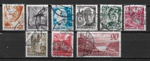 Germany 6N30//38 1948-9 part set Used NO 6N33A