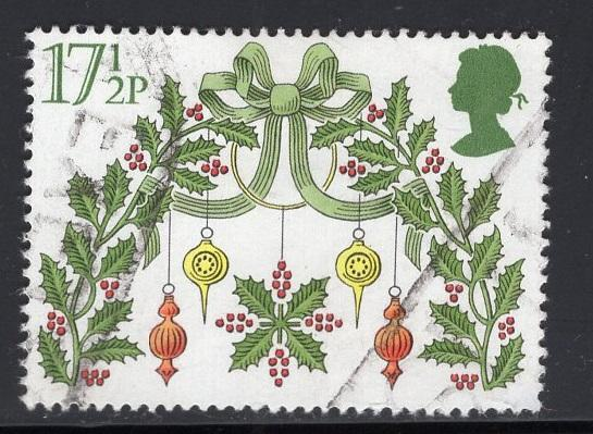 Great Britain  #932  used  1980  Christmas  17 1/2p