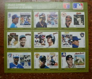 Baseball Stamps- Major League Baseball in Stamps - Grenada - MNH