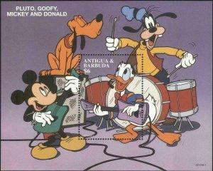 Antigua & Barbuda MNH S/S 2036 Disney's Mickey & Donald's Band