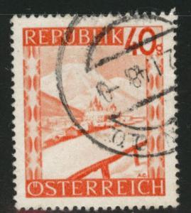 Austria Scott 506 Used stamp from 1947-48 set