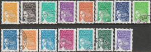 France, #2849-2863, Used Set Of 15 , From 2002