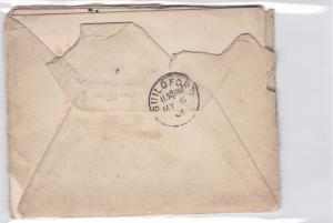 britain  1901 ½d  stamps pair entire cover and letter  ref r14531