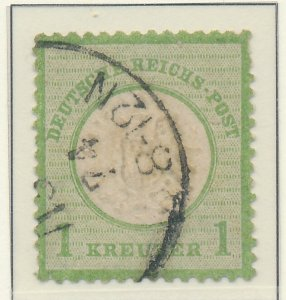 Germany Stamp Scott #21, Used, Good Centering, Pulled Perf - Free U.S. Shippi...