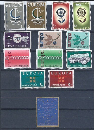 LUXEMBOURG 50 MINT STAMPS