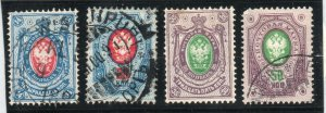 Finland - Sc# 52 - 55 Used   /    Lot 0620630