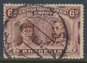 British South Africa Company /Rhodesia SG 145  perf 14  Used  see scans / det...