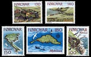 Faroe Isl. MNH 31-35 Landscapes