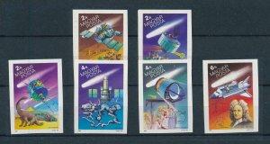 [105741] Hungary 1986 Prehistoric animals dinosaurs Space travel satellite  MNH