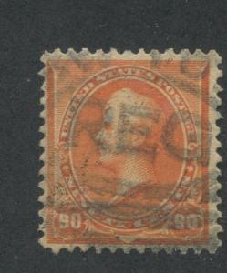 1890 US Stamp #229 90c Used F/VF Registered Canceled Catalogue Value $140