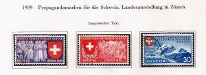Switzerland Stamp 1939 National Philatelic Exhibition - French Inscription $20