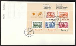 Canada 913a Canada Exhibition Souvenir Sheet Canada Post U/A FDC