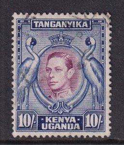 Kenya Uganda & Tanzania   #84  used  1944  .   10sh