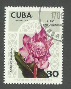 1974 Cuba Scott Catalog Number 1910 Used