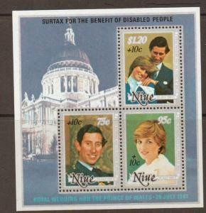 NIUE SGMS447 1981 INTERNATIONAL YEAR FOR DISABLED PERSONS MNH