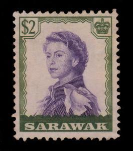 Sarawak Sc#210 QE II $2 F-VF Used