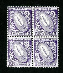Ireland Stamps # 72 VF OG NH Block of 4 Catalog Value $230.00
