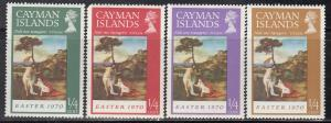 Cayman Islands, Sc # 151-154, MH, 1970, Easter