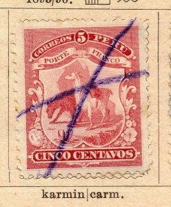 Peru 1895-96 Early Issue Fine Used 5c. NW-11681