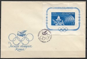 1960 Romania 1337 Olympic Games FDC