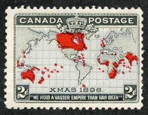 Canada SG166 1898 Christmas Lavender Ocean U/M (very light bend)