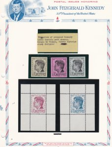 Austria Unissued Proof Sheets & Stamps Of John F. Kennedy , NH