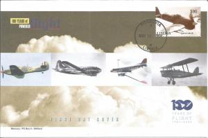 100 Years Of Flight First Day Cover Hawker Typhoon 1B 2004 liberia Z5506