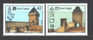 Luxembourg. 2000. 1512-13. Architecture. MNH.