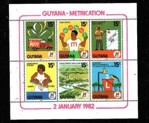 Guyana-Sc#437-unused NH sheet-Metrification-1982-