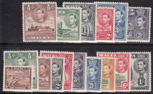 Malta, Sc 191-200, MNH/MH, 1933-43, King George VI