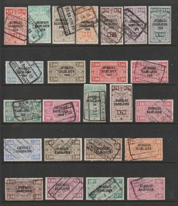 Belgium a small used lot of Railway Newspaper parcels 1928 & 29