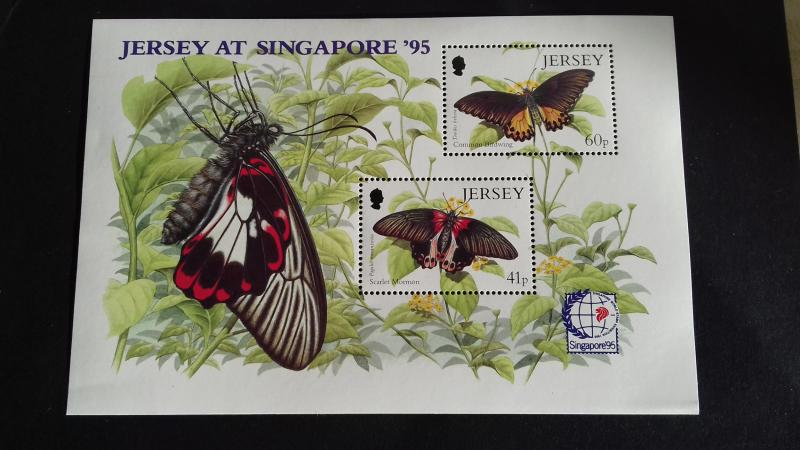 Jersey 1995 Butterflies - International Stamp exhibition Singapore '95Mint