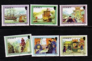Jersey  Sc 587-92 1992 Mesny stamp set mint NH
