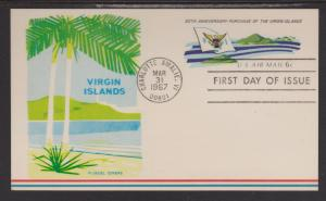 UXC 6 Virgin Islands FDC Fluegel Cachet