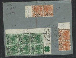 MALAYA BMA (PP1008B) 1946 2C X2 PRS+3C CONTROL BL 6 REG A/M TO INDIA