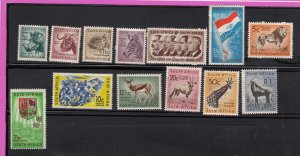 J28463,1961 south africa set mh/mhr set  #241-53 wild animals etc