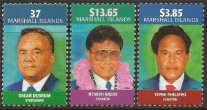 Marshall Islands - 2003 Famous Micronesians 3 Stamp Set #817-9 13P-023