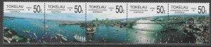 Tokelau #150 strip of 5, F-VF Mint NH ** Australia Bicentennial